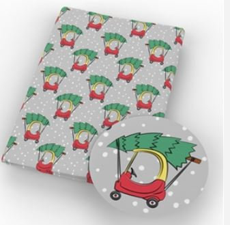Coupe Car Christmas Tree Vinyl