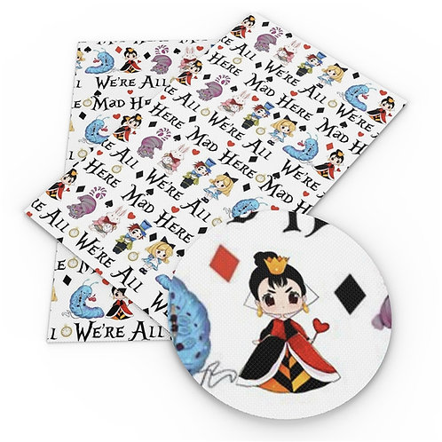Alice We're All Mad Fabric