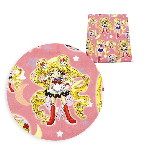 Sailor Moon All Grown Up Pink Fabric