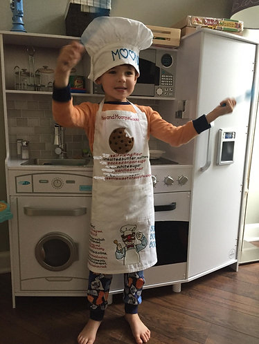 """My Favorite Recipe"" Child's Embroidered Apron"