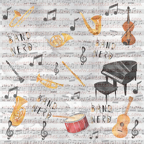 Music is My Life Fabric