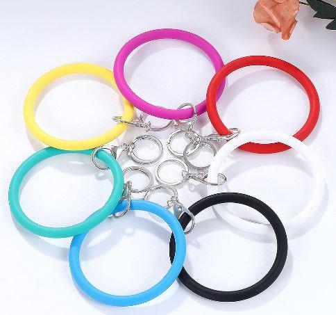 Silicone Bracelet Keyrings