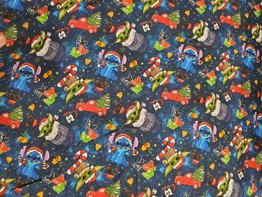 Christmas - Blue Guy Fabric