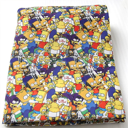 Simpsons Mashup Fabric