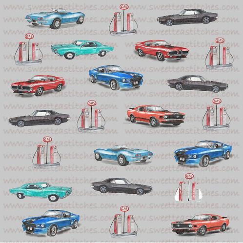 Classic Cars Fabric