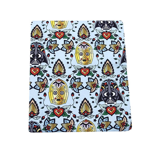 Sky Wars Sugar Skull Fabric