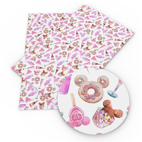 Mouse Treats Pink Fabric