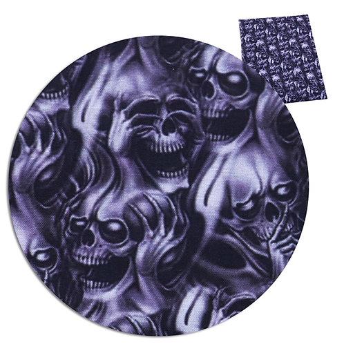 Skulls See No Evil Fabric