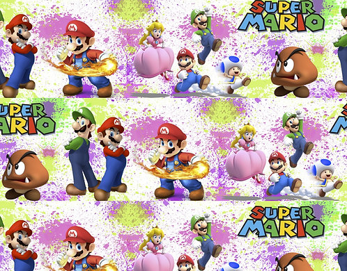 Super Brothers Splatter Fabric