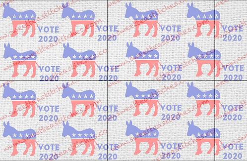 Vote Democrat 2020 Vinyl