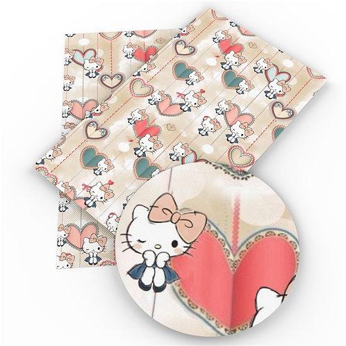Cats - Hi Kitty Kitty! Hearts Fabric