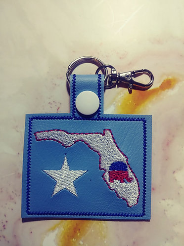 Florida Elephant Key Fob