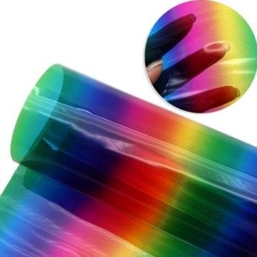 Transparent Rainbow Embroidery Vinyl