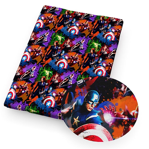Avenging Crime Watercolor Fabric