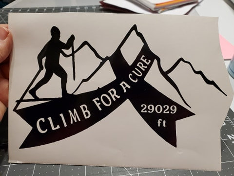 Climb for a Cure Decal