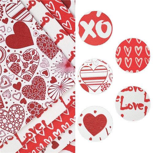 Valentines Day Sheet Set, 5 Piece