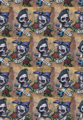 Skulls True Love Fabric