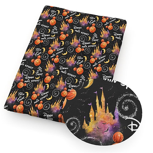 Halloween Creepy Castle Fabric