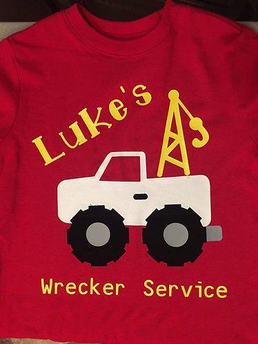 Personalized Dump Truck Toddler Tee