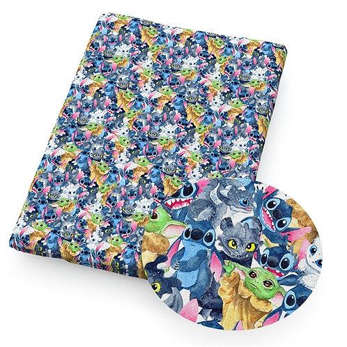 Blue Guy Mashup Fabric