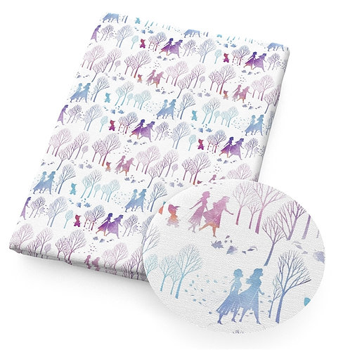 It's Cold Silhouette Fabric