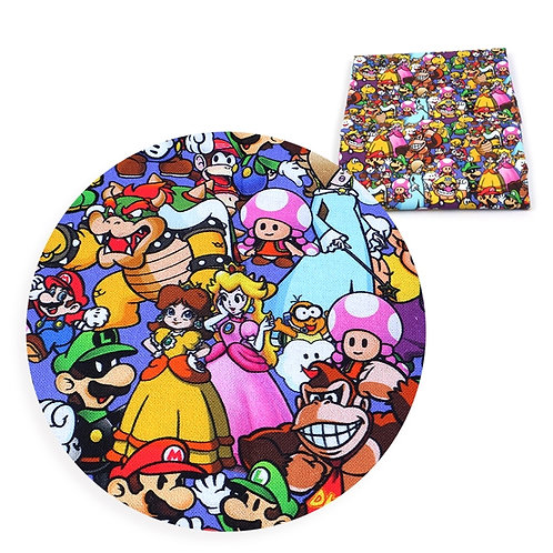 Super Brothers and Friends Fabric