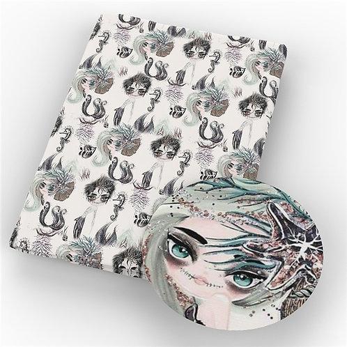 Girl Under the Sea Fabric