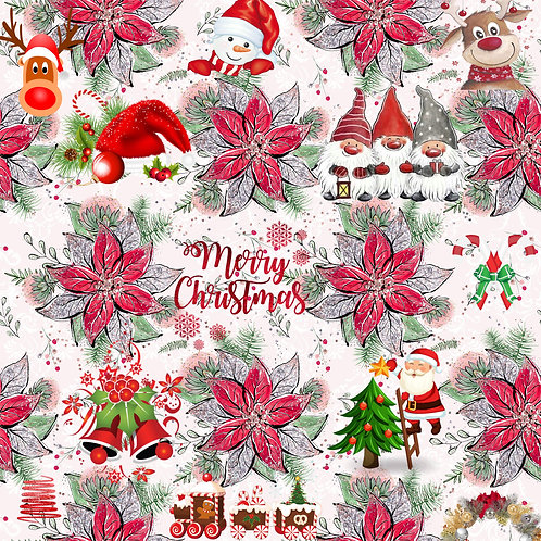 Christmas - Gnome Holiday Fabric