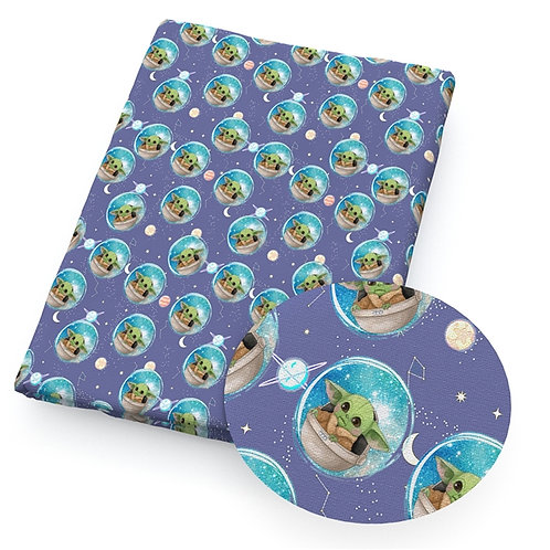 Green Guy in Space Fabric