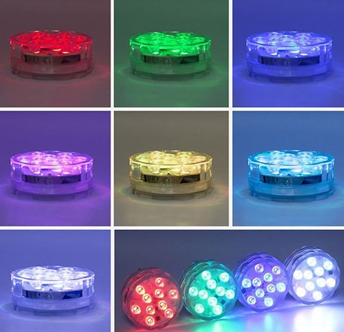 LED Submersible Lights with Remote