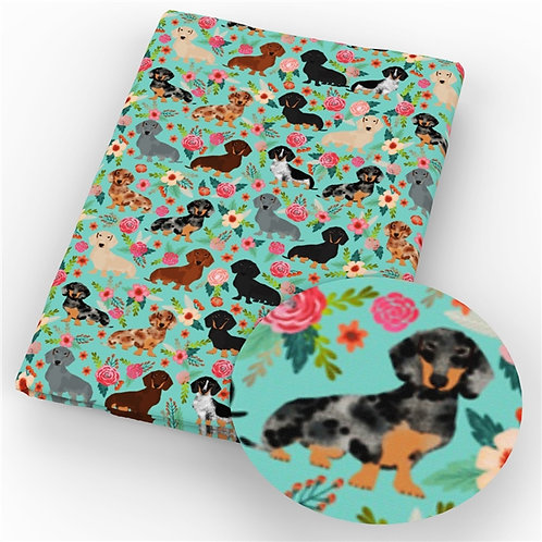 Dogs - Dachshunds Fabric
