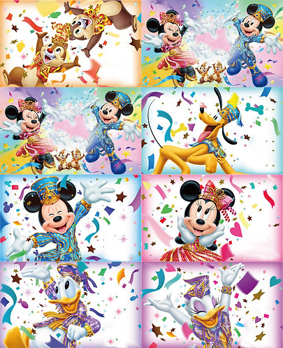 Mouse Celebration Blocks Fabric