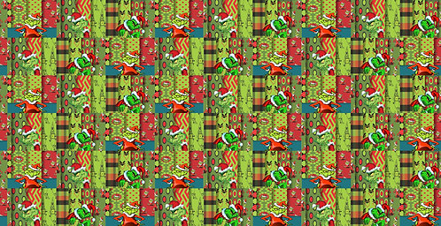 Christmas - Grinch Stripes Fabric