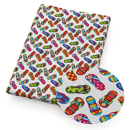 Flip Flops Scattered Fabric