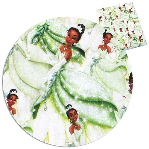 Princess in Green Fabric
