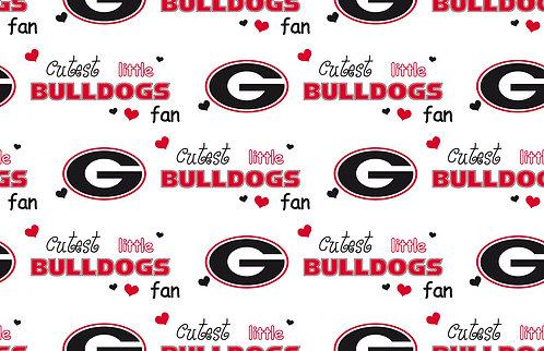 Sports Cutest Bulldog Fan Fabric