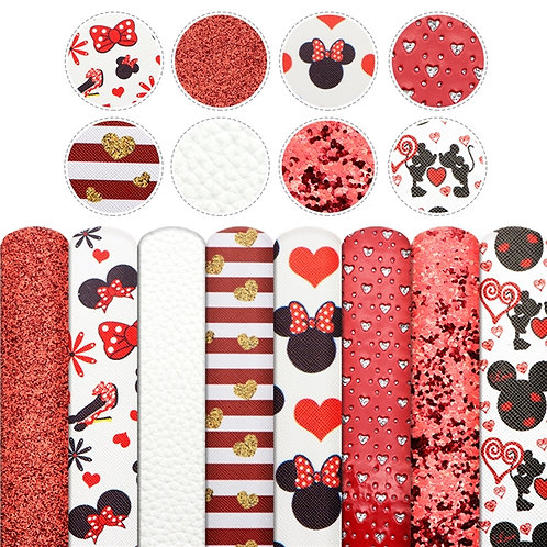 Mouse Valentines Day Sheet Set, 8 Piece