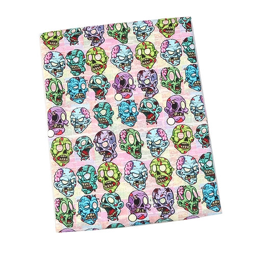 Zombie Faces Fabric