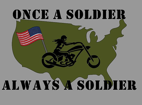 "Woman's ""Always a Soldier"""