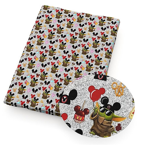 Green Guy and Mouse Fabric