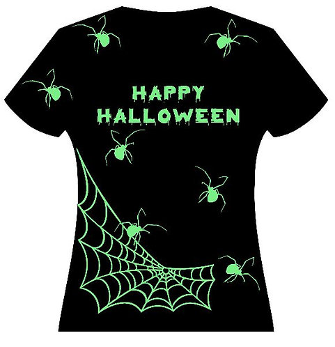 "Woman's ""Spiders"" Glow in the Dark Tee"