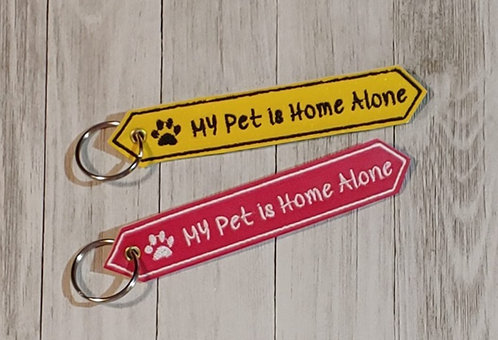 My Pet is Home Alone Keyfob