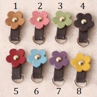 Zipper Pulls with Flower
