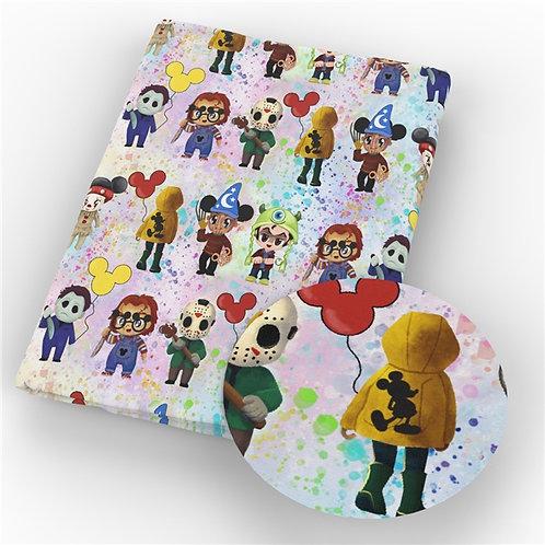 Cartoon Killers Fabric