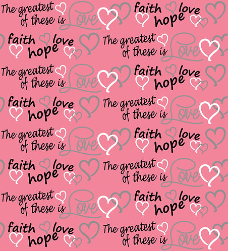 Faith Hope and Love Fabric