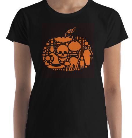 """Woman's """"Pumpkin Art"""" Tee"""
