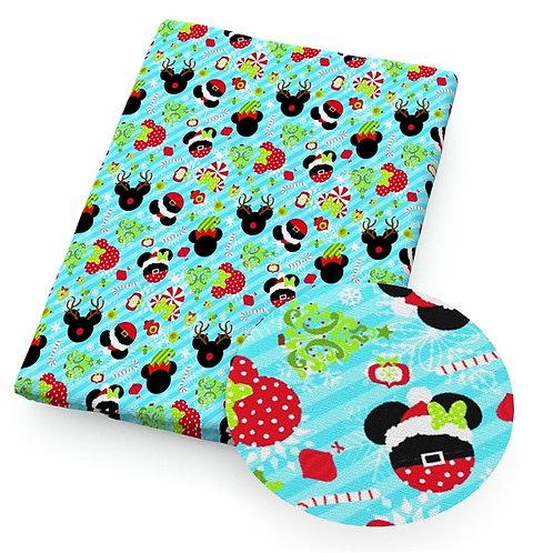 Christmas Treats Blue Fabric