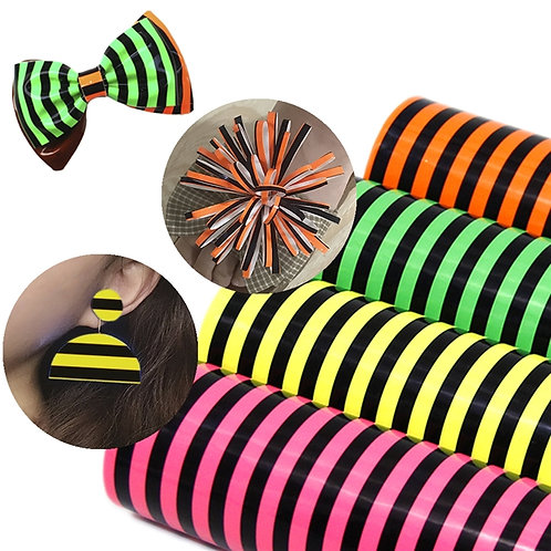 Flourescent Stripes Vinyl
