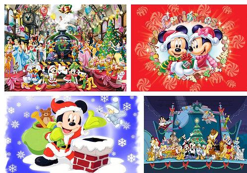 Christmas - Mouse Blocks Fabric