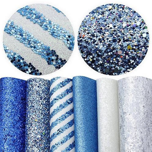 Blue and White Sheet Set